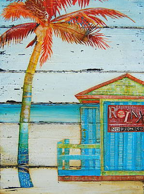 Huts Mixed Media - Relax No Working by Danny Phillips