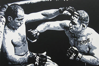 Cain Painting - Relentless by Geo Thomson