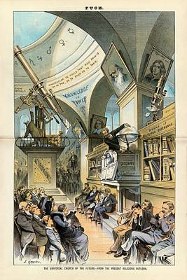 Religion And Science Print by Library Of Congress