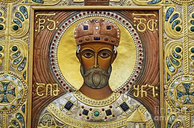 Tbilisi Photograph - Religious Art Inside The Tsminda Sameba Cathedral by Robert Preston