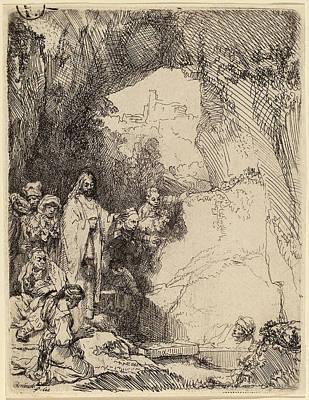 Raising Drawing - Rembrandt Van Rijn Dutch, 1606 - 1669, The Raising by Quint Lox