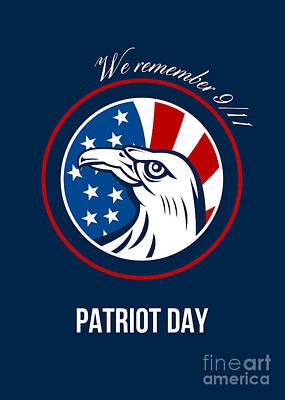 Remember 911 Patriots Day Poster Print by Aloysius Patrimonio