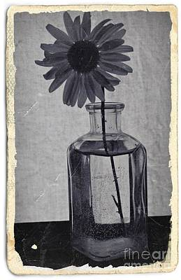 Aster Mixed Media - Remember Cyan Vintage 1 by Chalet Roome-Rigdon