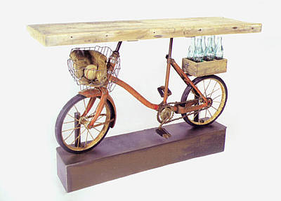 Bike Sculpture - Remember The Day by Benjamin Bullins