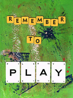 Remember To Play Print by Gillian Pearce