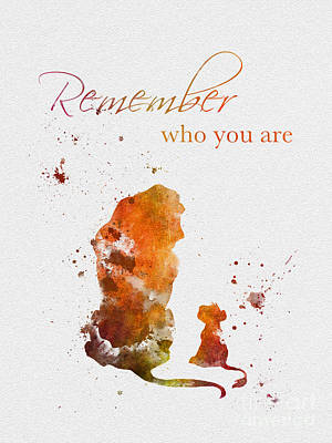 Lion Mixed Media - Remember Who You Are by Rebecca Jenkins