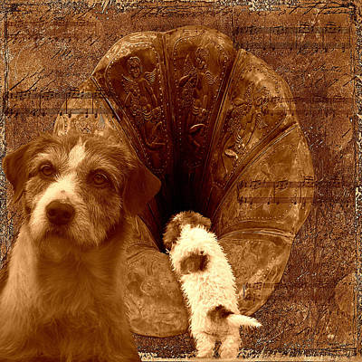 Remembering His Masters Voice Print by Veronica Ventress