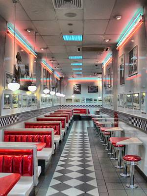 Florescent Lighting Photograph - Remembering Hungry Jacks  by Larry Lingard-Davis