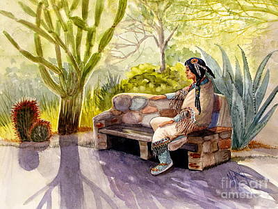 Garden Scene Painting - Remembering The Old Ones by Marilyn Smith
