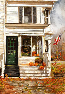 Remembering When- Porches Art Print by Lourry Legarde