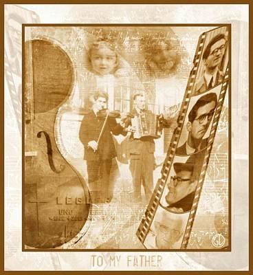 Violin Digital Art - Remembrance Of My Father by Gun Legler