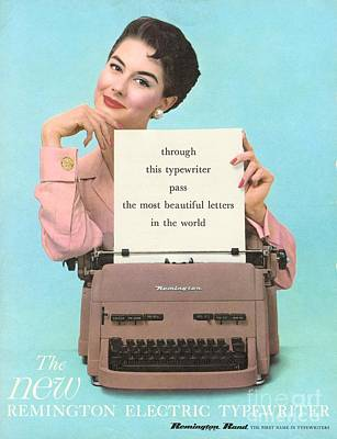 Remington 1950s Uk Typewriters Print by The Advertising Archives
