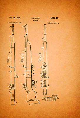 Remington Firearm Patent 1960 Print by Mountain Dreams