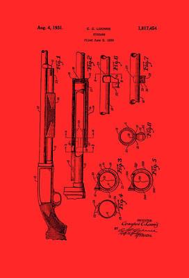 Remington Rifle Patent 1929 Print by Mountain Dreams