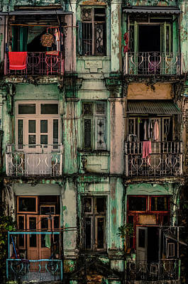 Balcony Photograph - Remnants Of Another Era by Marcus Blok