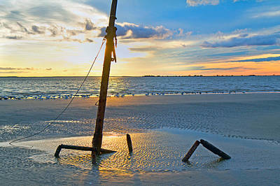 Jekyll Photograph - Remnants Of The Past by Betsy Knapp