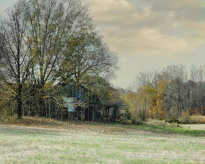 Barn In Tennessee Photograph - Remnants - Old Barn Landscape Scene by Jai Johnson