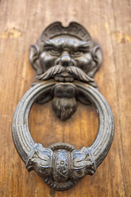 Dog At Door Photograph - Renaissance Door Knocker by Melany Sarafis