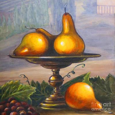 Italian Wine Painting - Renaissance Pears by Italian Art