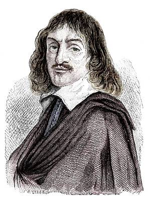 Rene Descartes Print by Science Photo Library