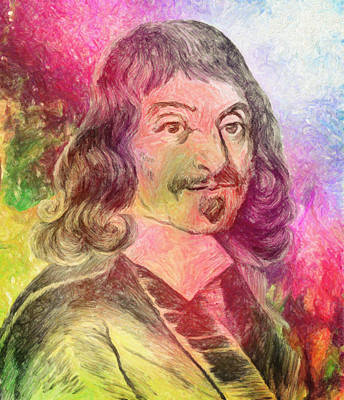 Impressionist Photograph - Rene Descartes by Taylan Apukovska