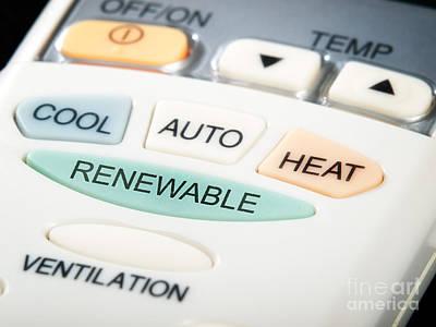 Renewable Button Print by Sinisa Botas