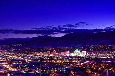 Reno Photograph - Reno Winter Cityscape by Scott McGuire