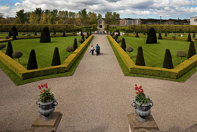 Pleasure Photograph - Renovated Formal Gardens At The Museum by Panoramic Images