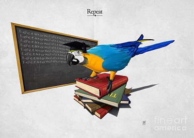 Parrot Mixed Media - Repeat by Rob Snow