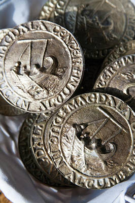 Replica Ancient Roman Coinage Once Print by Dave Bartruff