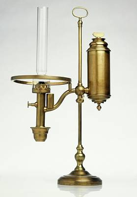 Oil Lamp Photograph - Replica Of Oil Lamp by Dorling Kindersley/uig