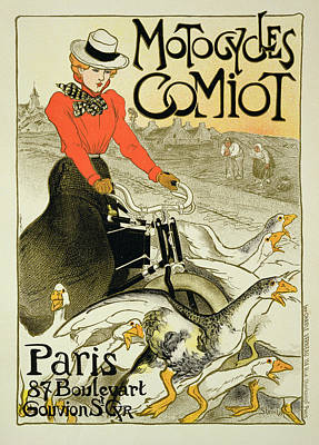 Geese Drawing - Reproduction Of A Poster Advertising by Theophile Alexandre Steinlen