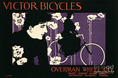 Wheel Drawing - Reproduction Of A Poster Advertising Victor Bicycles by American School