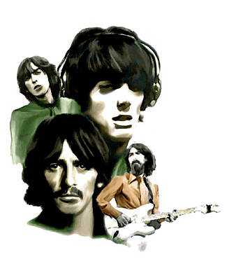 Music Drawing - Requiem II George Harrison by Iconic Images Art Gallery David Pucciarelli