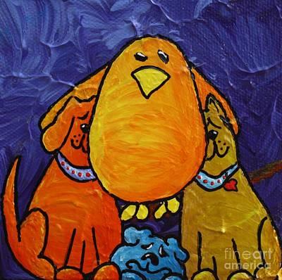 Limbbirds Painting - Rescue The Perishing by LimbBirds Whimsical Birds