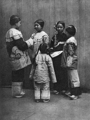 1800s Photograph - Rescued Chinese Slave Girls by Underwood Archives