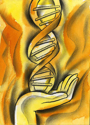 Genetics Painting - Research by Leon Zernitsky