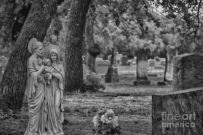 R.i.p Photograph - Rest In Peace-black And White by Douglas Barnard