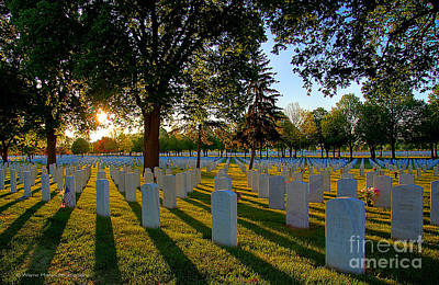 Rest In Peace Memorial Day Fort Snelling National Cemetery Print by Wayne Moran