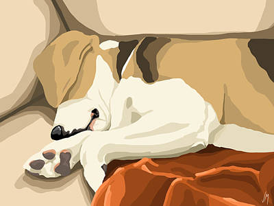 Beagle Painting - Rest by Veronica Minozzi