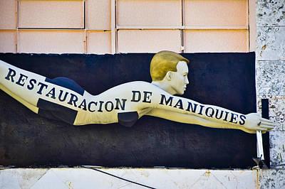 Man Photograph - Restauracion De Maniquies by Skip Hunt