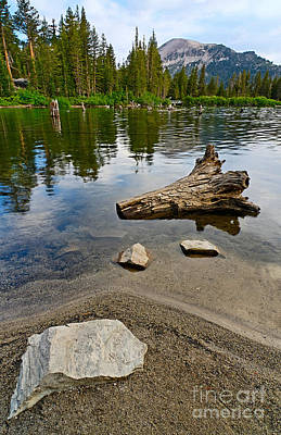 Mammoth Photograph - Resting - A Very Tranquil View Of Twin Lakes In Mammoth California by Jamie Pham