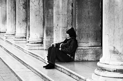 Resting At St. Mark's Square Print by John Rizzuto