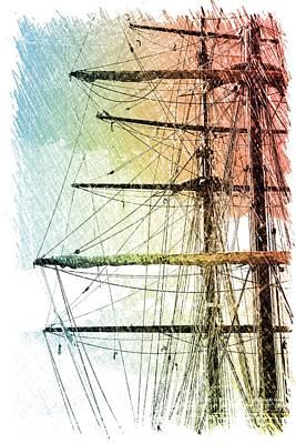 Resting In Harbor Print by Carol Groenen