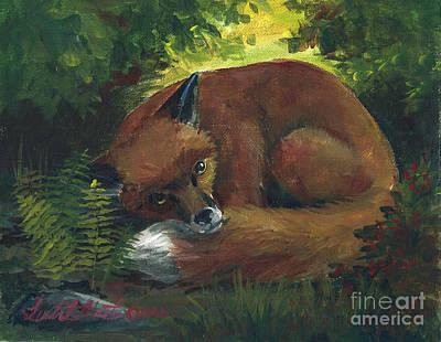 Resting Red Fox Original by Linda L Martin