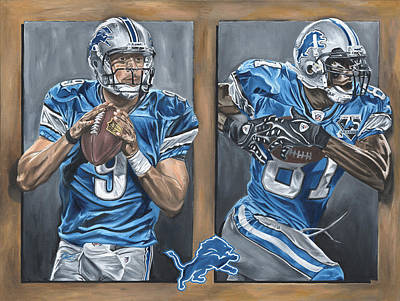 Matthew Stafford Painting - Restore The Roar by David Courson