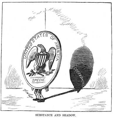 American Eagle Painting - Resumption Act Cartoon by Granger