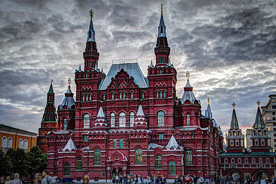 St Basils Photograph - Resurrection Gate And Iberian Chapel - Red Square - Moscow Russia by Jon Berghoff