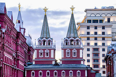 St Basils Photograph - Resurrection Gate - Red Square - Moscow Russia by Jon Berghoff