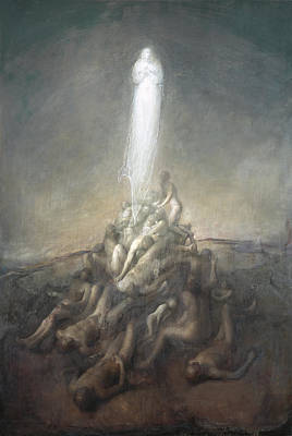 Clear Sky Painting - Resurrection by Odd Nerdrum
